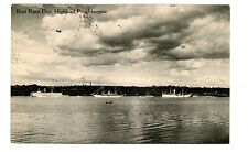 Poughkeepsie NY -BOAT RACE DAY ON HUDSON RIVER TO HIGHLAND- Postcard