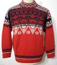 Herren-Pullover aus Mischwolle mit Norweger-Muster