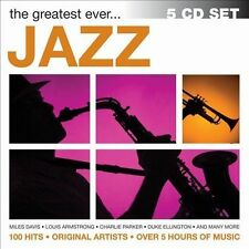 The Greatest Ever... Jazz [Box] by Various Artists (CD, Dec-2013, 5 Discs,...