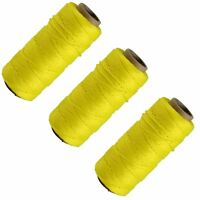3 X Yellow 70M Builders Building Brick Laying Measuring Masonry Rope String Line