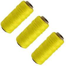 3 X Yellow 70M Builders Building Brick Laying Measuring Masonry Rope String Line