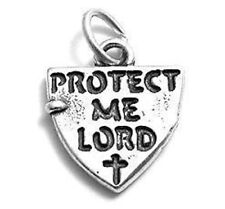 925 Sterling Silver Protect Me Lord Shield Charm
