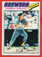 1977 Topps #635 Robin Yount VG-VGEX+ HOF Milwaukee Brewers FREE SHIPPING
