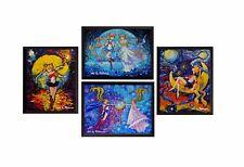 4 pcs Pretty Soldier Sailor Moon Canvas Prints Wall Art Wall Decor Artwork M039