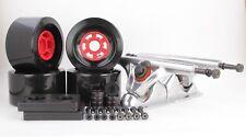 90mm 78a Black Longboard Wheels and Silver Reverse Kingpin Truck Combo Set
