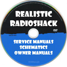 Realistic Radioshack Ham Cb Radio Service & Owner Manuals- Pdfs on Dvd - Huge
