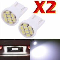 2 LED T10 4 SMD Lampada Posizione Luci e Targa  BIANCO Per Fari XENON W5