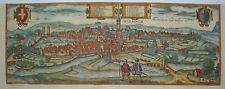 Warburg Höxter Westfalen  seltener Braun und  Hogenberg Kupferstich 1580