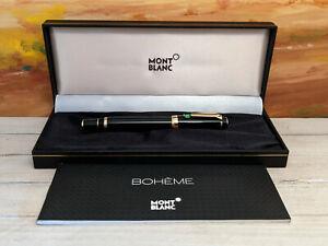MONTBLANC Boheme Gold Plated Trim & Green Stone Rollerball Pen
