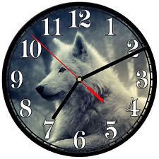 "8"" WALL CLOCK - Wolf 18 Wolves Spiritual - Kitchen Office Bathroom Bar Bedroom"
