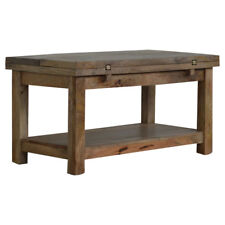Extendable Farmhouse Rustic Solid Wood Coffee Table