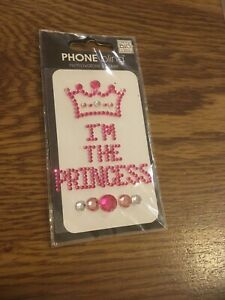 """2010 Phone Bling - """"I'm The Princess"""" removeable sticker New in the package"""