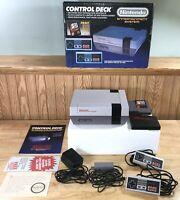 1986 Nintendo NES CONTROL DECK Super MARIO BROS Complete BOX Set SERVICED! NICE!