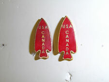 0253p WW2 US Army FSSF First Special Service Force DI pair USA Canada A1B6
