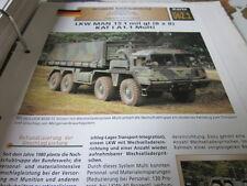 Archiv Militärfahrzeuge schwere Rad Kfz Deutschland 62.1 MAN 15t mil Kat I A1.1
