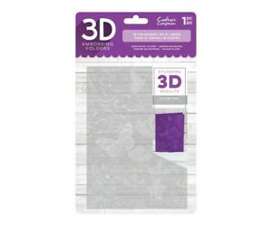 Crafter's Companion 3D Embossing Folder - In the Garden Butterfly Flowers