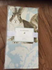 "S/4 Williams Sonoma Easter Bunny Painterly Damask Napkins 20"" Square"