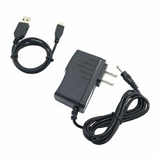 AC/DC Power Charger Adapter + USB Cord Cable for Coby Kyros MID7024 4G Tablet PC