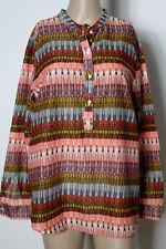 H&M Bluse Gr. 42 bunt Baumwolle Muster Fischerhemd/Bluse/Tunika