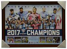 Sydney FC 2017 A-League Champions Official Deluxe Sportsprint Brown Frame + COA