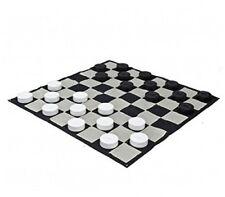 """Mega Checker Plastic Set 10"""" Diameter with Quick Fold Nylon Chess Board"""