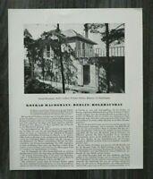 AC) 2x Blatt Konrad Wachsmann Berlin 1931 Architektur Holzhaus Bau Moderne Haus