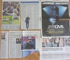 GEORGE MICHAEL UK and LONDON ONLY newspaper clippings