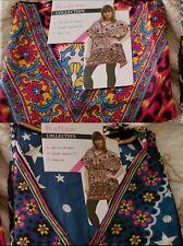 Lot of 2 Ladies Summer Women Maxi Short Kaftan Dress Hippie Printed Plus Size