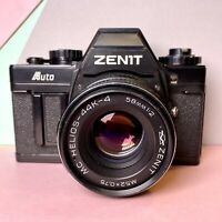 Zenit Auto 35mm SLR Film Camera W/Helios 44k-4 Lens 58mm F2 Working Order! Lomo