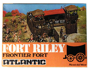 1/72nd Scale Atlantic HO Far-West - Fort Riley Frontier Fort #1051 - mint in box