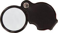 "New 3 X 2"" Glass Lens Folding Pocket Magnifier w / Vinyl Pouch #MF2055B-3X"