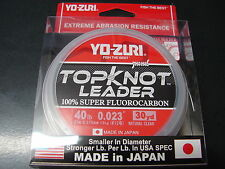 YO-ZURI TOPKNOT LEADER 100% SUPER FLUOROCARBON 40lb 30yd R1232-NC Natural Clear