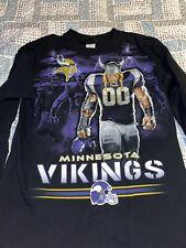 Mens Vintage NFL Apparel Minnesota Vikings Longsleeve Shirt Sz M