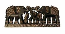 Key Holder Wall Mounted Wooden Vintage Elephant Style Key Hook Hanger Wall Decor