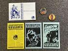 JIM STERANKO The Shadow Secret Society Pulp Hero Kit 1975 Plus 2 RARE PINS