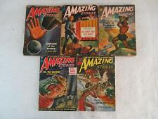 Lot of 5 Vintage AMAZING STORIES February April May July 1951 March 1952
