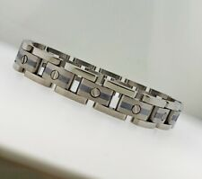 """REVV MENS 9"""" TITANIUM and STERLING SILVER BRACELET NEW WITHOUT TAG MSRP $300"""