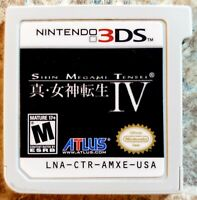 Shin Megami Tensei IV (Nintendo 3DS, 2013) Game Only *TESTED AND WORKING*