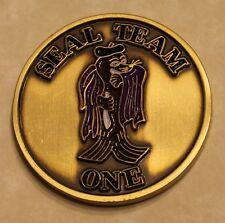 Naval Special Warfare SEAL Team 1 Purple Cape Sammie Navy Challenge Coin / One