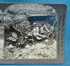 WW1 Stereoview Photo German Dead In The La Bassee Area Trenches Keystone
