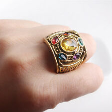 THANOS Infinity Gauntlet POWER RING Avengers The Infinity War Stones Size 8-12