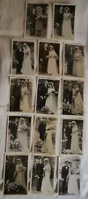 Lot 14 PHOTOS Portrait Couple de mariés Mariage Vers 1950 Série Photo Robe