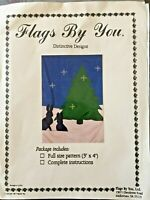 Distinctive Designs Flags by You Pattern Evergreen Tree Rabbit Stars Winter