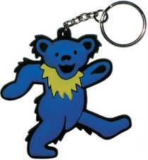 GRATEFUL DEAD Rock Band DANCING BEAR 3D Rubber LOGO with METAL KEY CHAIN New