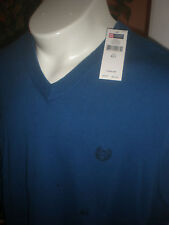 NWT CHAPS RALPH LAUREN POLO BLUE V-NECK SWEATER VEST SZ:XLT RETAIL $60.00