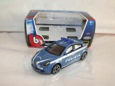 Alfa Romeo Giulietta Police Blue Die Cast Metal Model Car Scale 1:43 New In Box