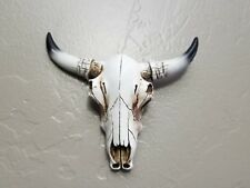Iconic Symbol Southwestern Steer Skull Wall Sculpture Animal Totem Home Decor wh