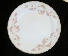 "ONE 6"" BREAD AND BUTTER PLATE -- Pope Gosser FLORENCE Scalloped gold edges"