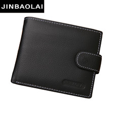 Genuine Leather Men Wallets Brand High Quality Design Wallets with Coin Pocket