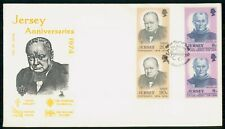 Mayfairstamps Jersey FDC 1974 Sir Winston Churchill Combo First Day Cover wwf_63